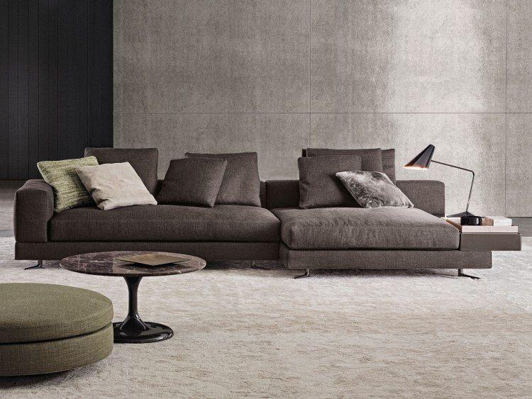 Wohnzimmer In Grau Mit Eckcouch Im Mittelpunkt 55 Ideen Sofa Furniture Sofa Design Furniture