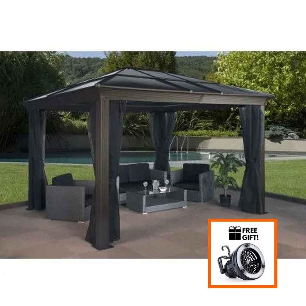 Sojag Sedona 10 X12 With Steel Roof And 2 Rail Mosquito Nets Tuff Nest Gazebo Hot Tub Gazebo Large Gazebo