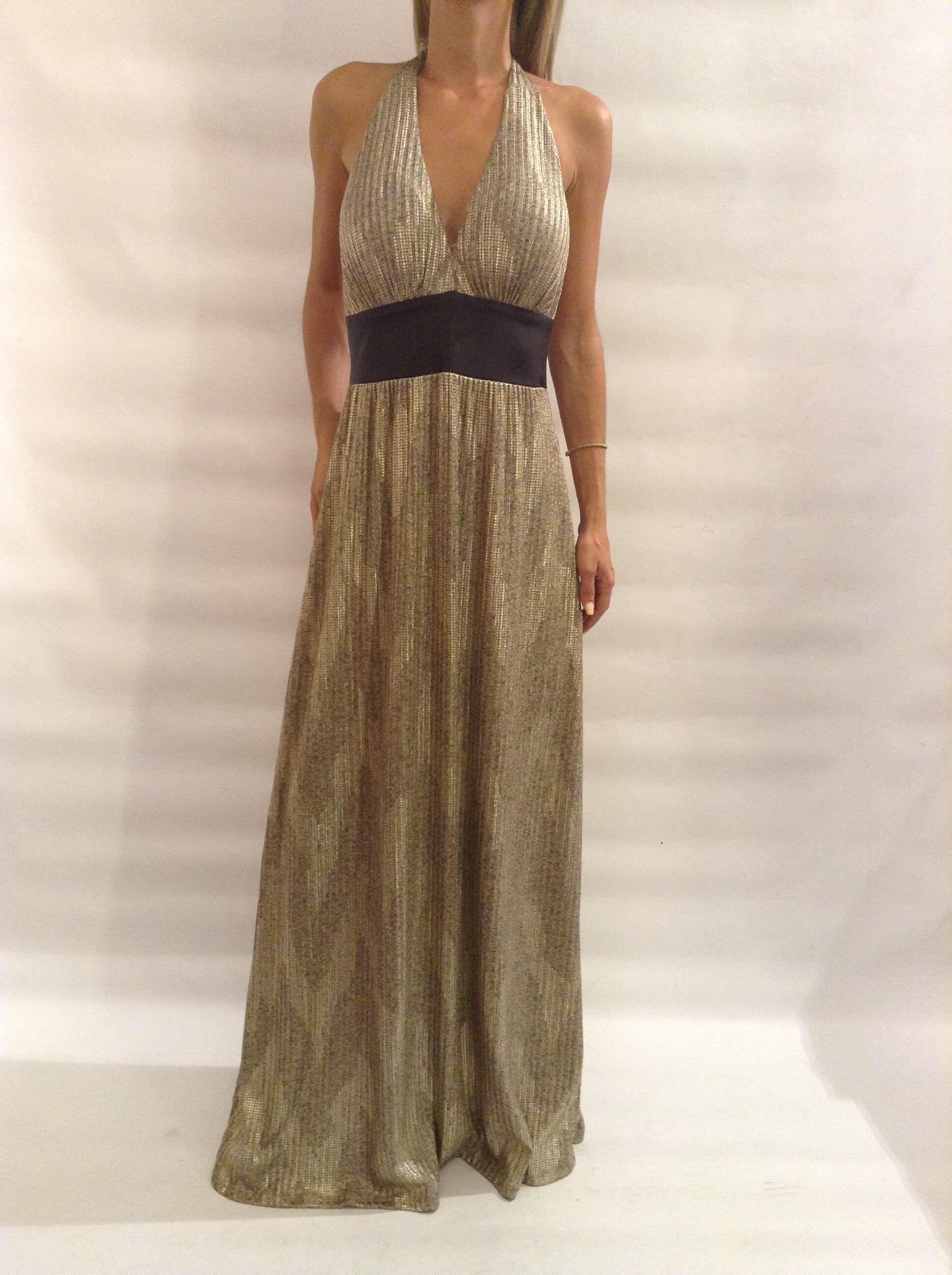 ae273918bb5d  Χρυσό  maxi  φόρεμα από την νέα μας collection A W 2016-