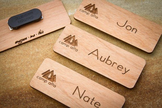 Custom Name Badges Engraved Tag