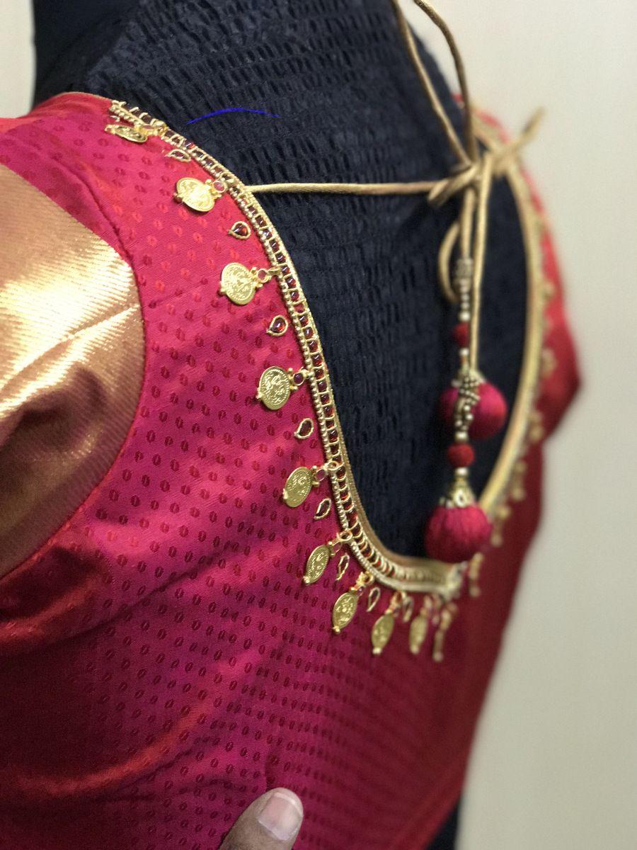 2f3a2b1f382646 Kasumalai South Indian style blouses | ANJAZ-Sangeetha ...
