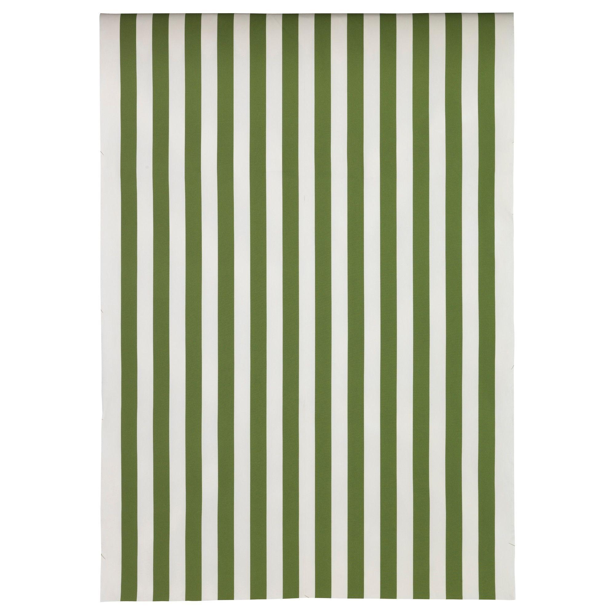 Sofia tessuto a metraggio a righe verde bianco art - Tessuto a metraggio ikea ...