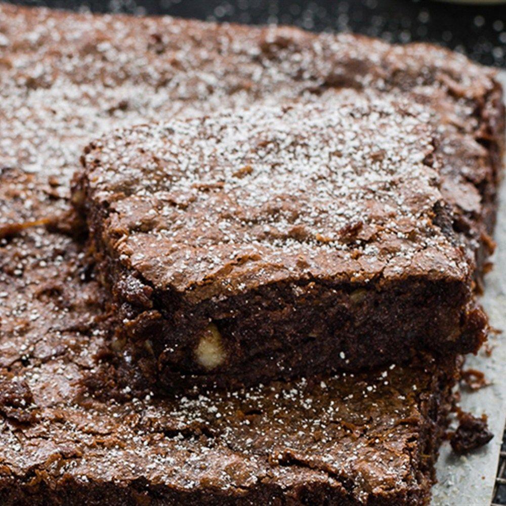 Try this Flourless Chocolate, Macadamia and Prune Brownies recipe.