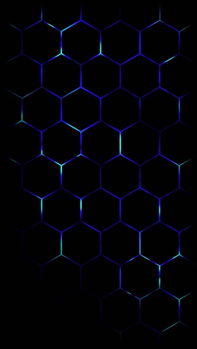 Photo Wallpaper Technology Wallpaper Black Wallpaper Black Phone Wallpaper Blue and black hexagon wallpaper