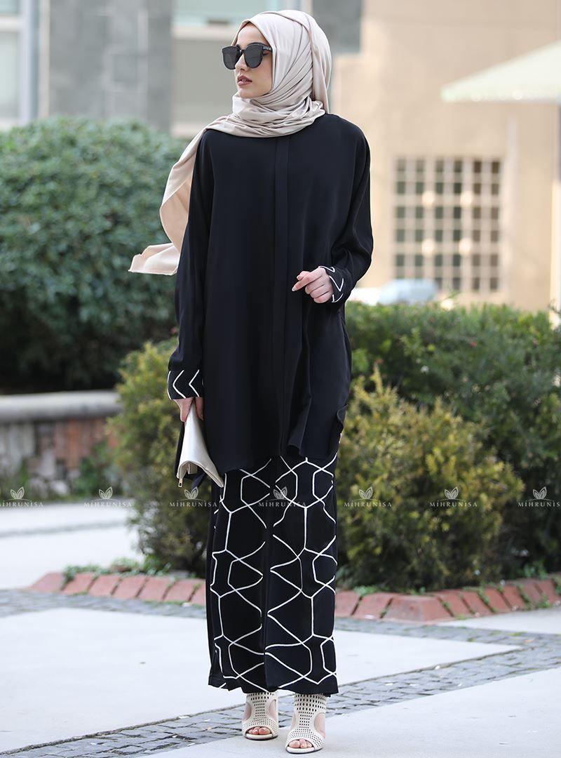 Eliza Takim Siyah Piennar Moda Stilleri Siyah Taki
