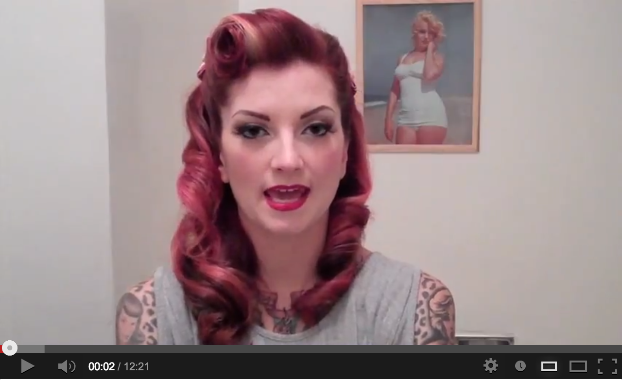 victory rolls and long curls | vintage hair tutorials: faux