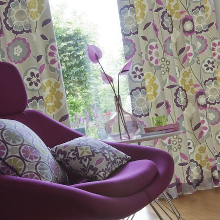 Impressions Collection By Clarke Clarke Retro Curtainsfloral Curtainsfabric