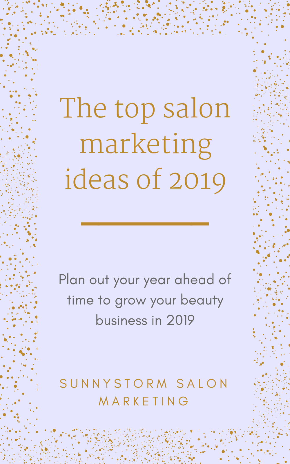 How to create the perfect salon marketing plan for 19 (that will