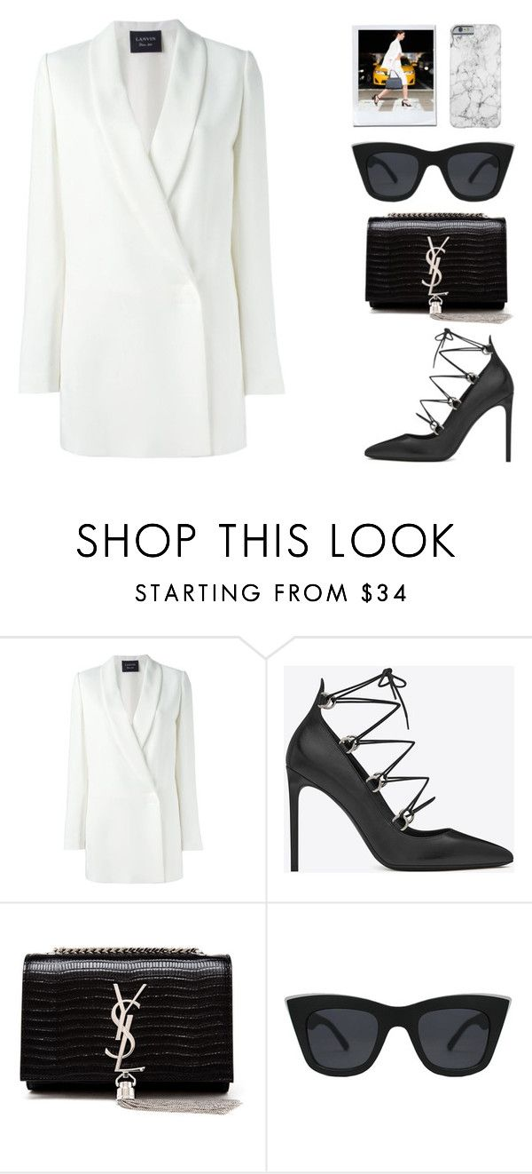 """""""Street Style N°11"""" by yellowgrapes ❤ liked on Polyvore featuring Lanvin, Yves Saint Laurent, Quay, women's clothing, women's fashion, women, female, woman, misses and juniors"""