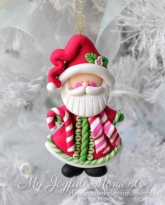 Handcrafted Polymer Clay Santa Claus Ornament | My Polymer Clay ...