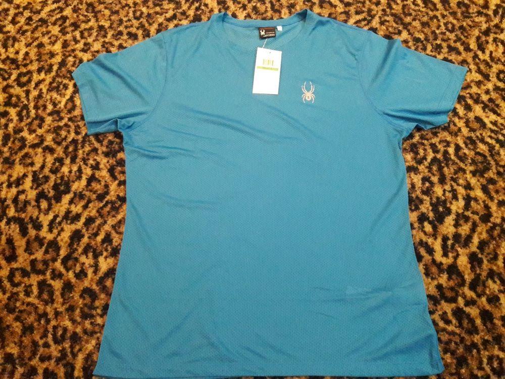 Shirt Sport Black Medium  M Free Ship SPYDER Short Sleeve Men/'s Alpine Tech T