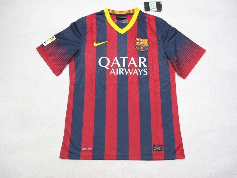 new product d18db 1f200 13/14 Barcelona home jersey Thailand quality and wholesale ...