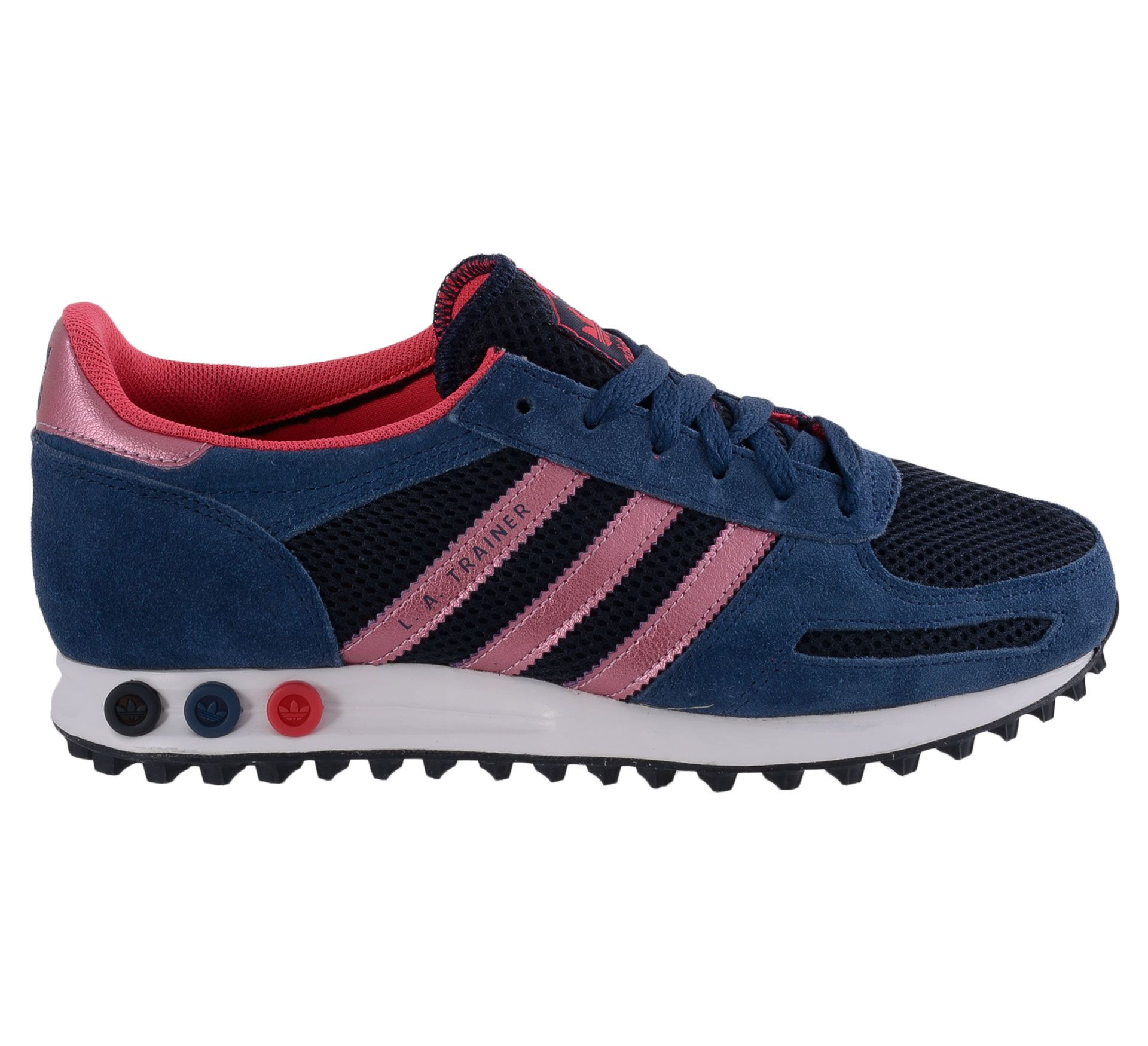 Adidas L.A. Trainer Sneakers Dames (navy - roze) | Adidas ...