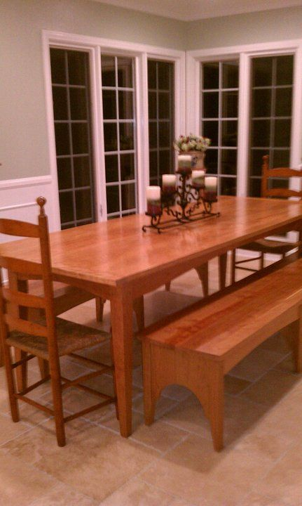 Shaker Table And Benches Dining Room Decor Room Decor Shaker Furniture