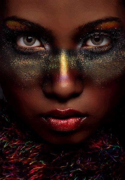 Glitter Under Eyeshadow Mask Good For A Costume Party Makeup Art Galaxy Makeup Makeup