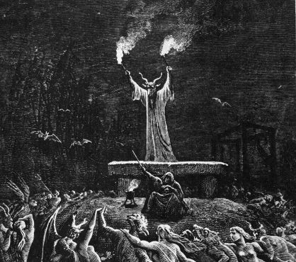 Black mass: Witches were believed to hold unholy masses where God and Christ were mocked