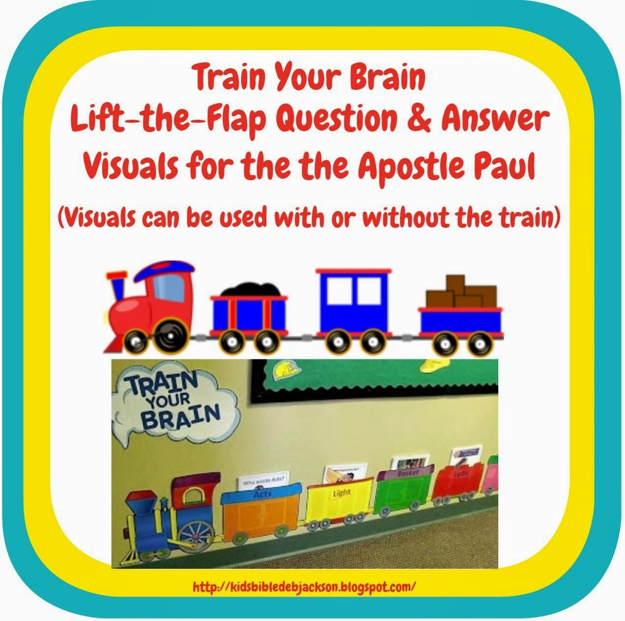 Bible Fun For Kids: Life of Paul Train Lift-The-Flap Review Visuals ...