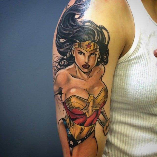 1721049ea 30 Geniale Wonder Woman Tattoos   Tattos   Tattoos for women ...