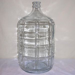 Vintage Large 5 Gallon Crisa Glass Water Bottle Jar Jug Excellent Large Glass Containers Glass Water Jug Large Glass Jars