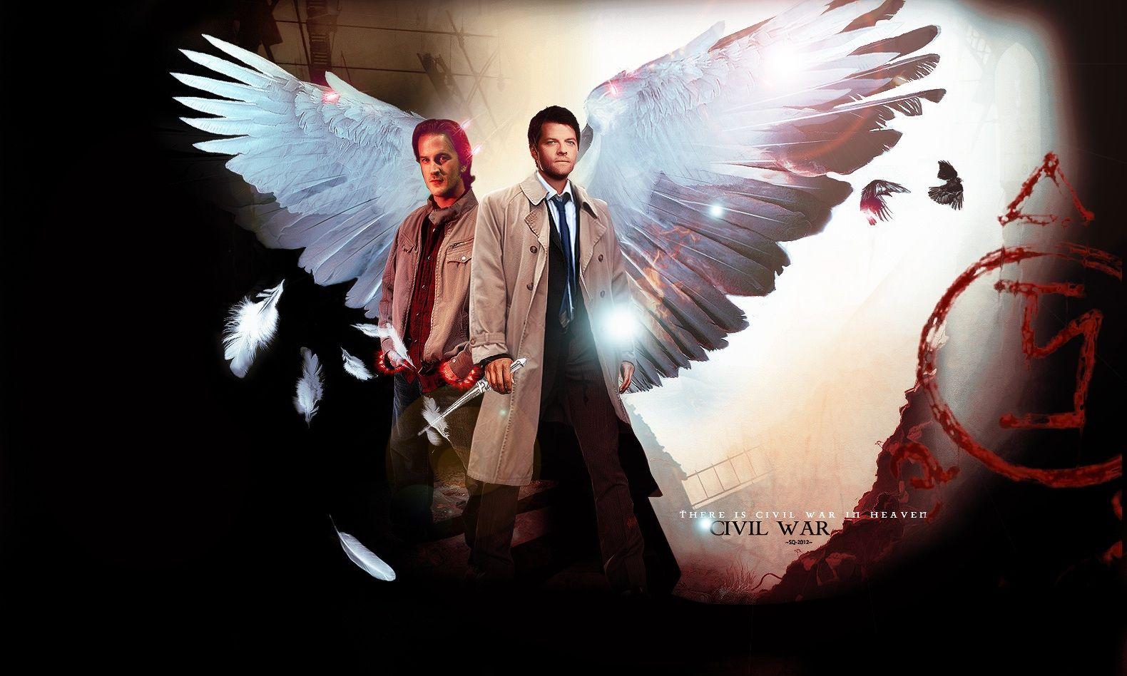 Gabriel And Castiel Supernatural Wallpaper
