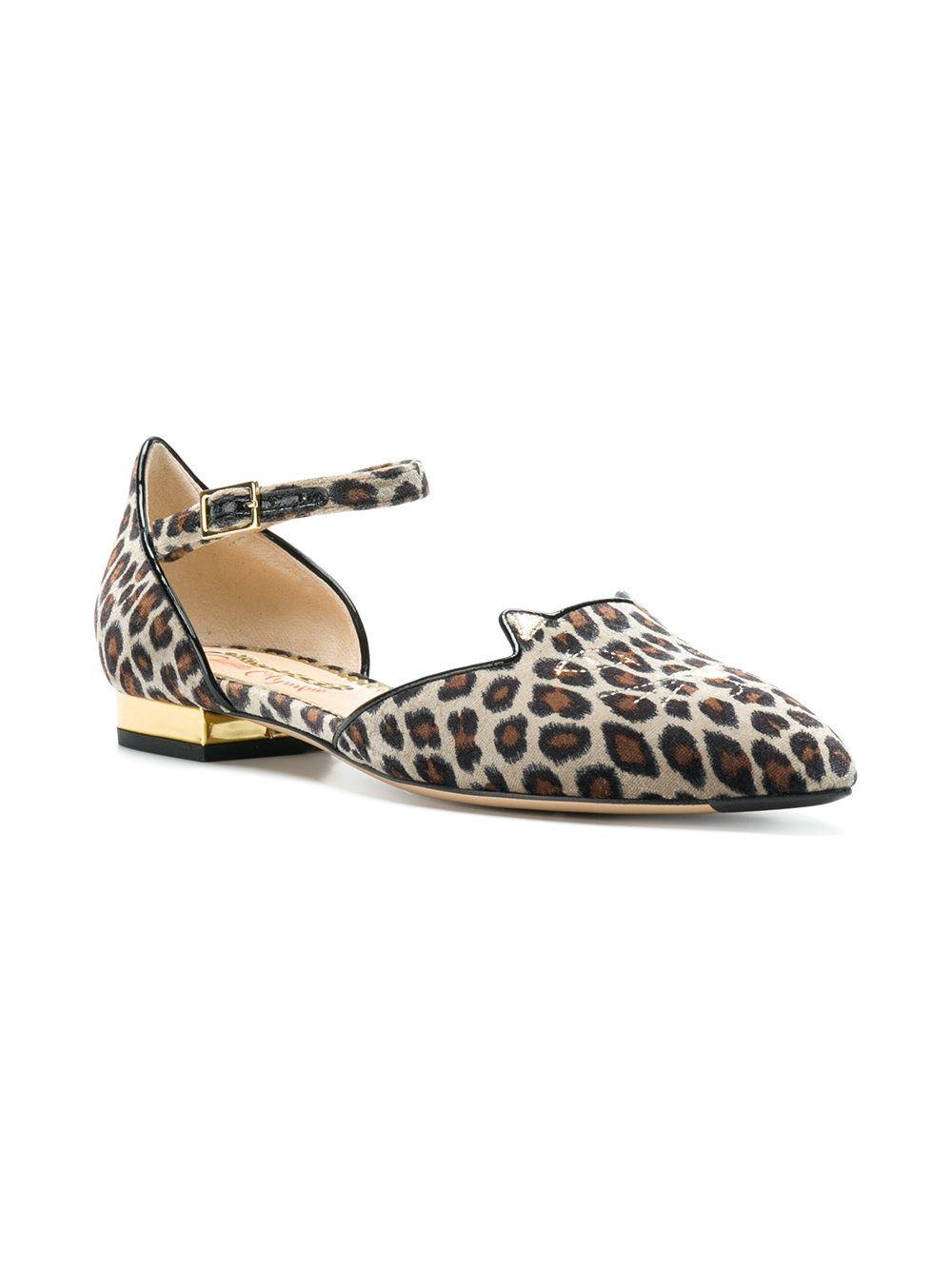 c9235c555a6f Charlotte Olympia Leopard print Kitty flats