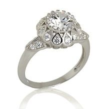 Xavier 2.38ct Absolute™ Floral-Design Solitaire Ring (With ...