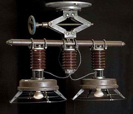 pingl par st phane courchesne sur lampe pinterest deco luminaire et d co steampunk. Black Bedroom Furniture Sets. Home Design Ideas