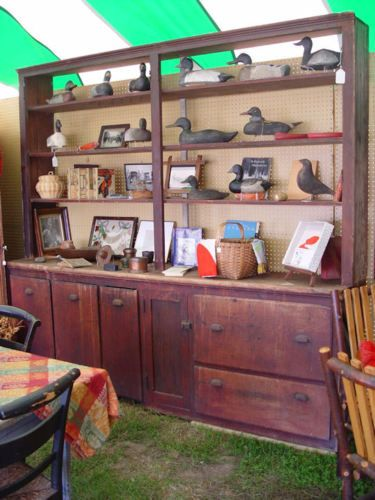 Antique-original-country-primitive-two-piece-general-built-in-store-cupboard