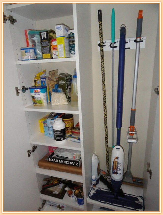 Image of broom closets tips to keep cleaners and cleaning for Cleaning products for kitchen