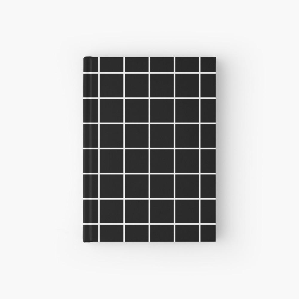 Black Grid White Lines Black Aesthetic Hardcover Journal By Trajeado14 Redbubble Black Aesthetic Cool Journals Hardcover Journals