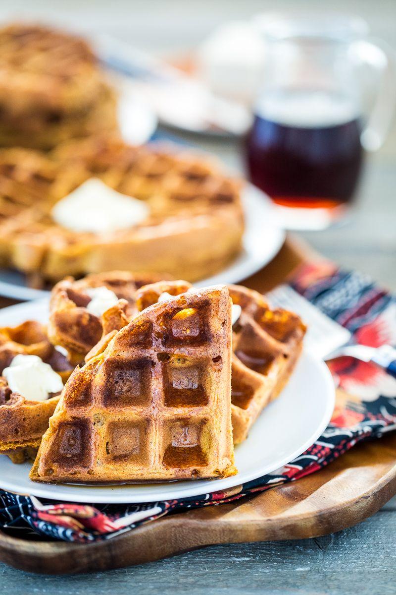 GlutenFree, Vegan Pumpkin Spice Waffles Recipe