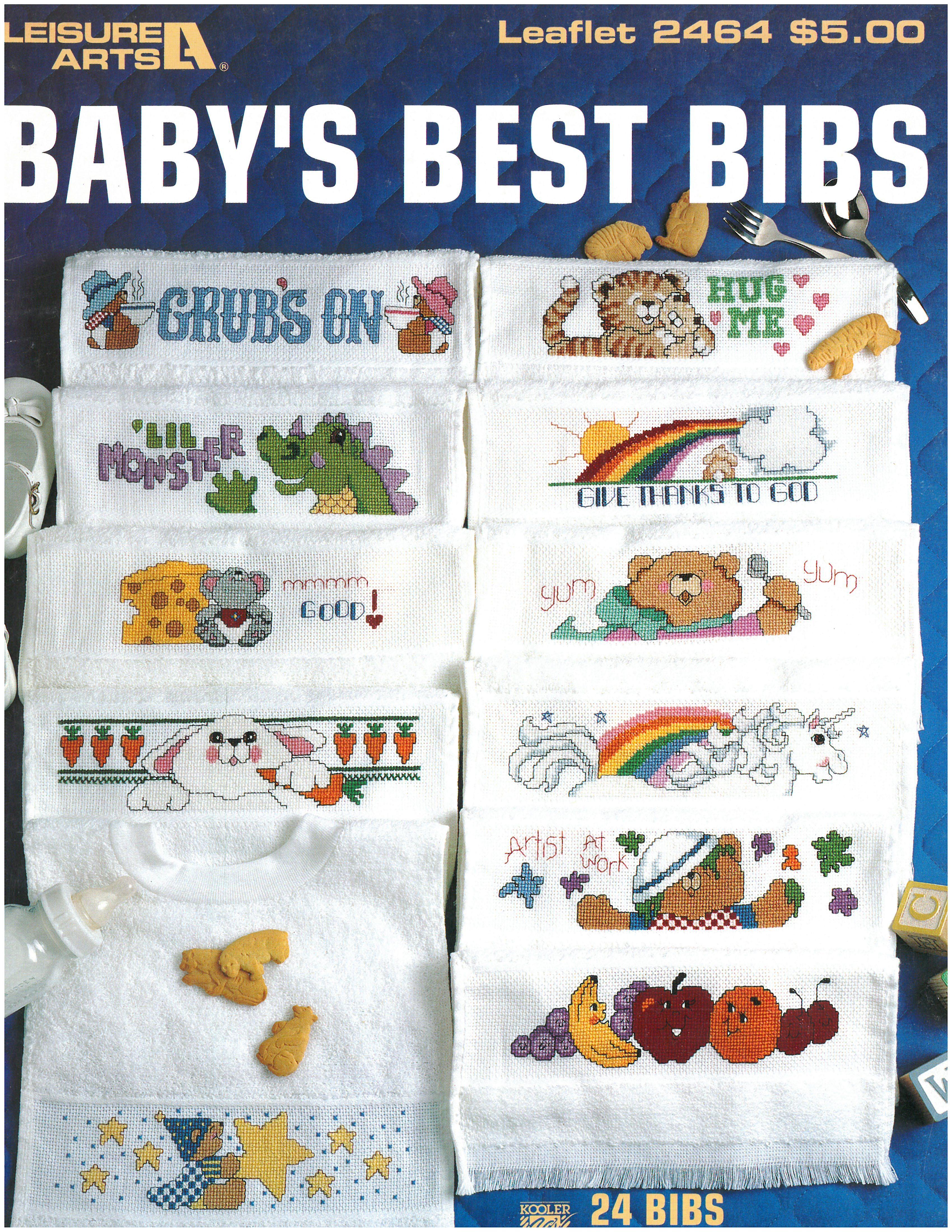Bibs Patrones 🐥 | punto de cruz bebe | Pinterest