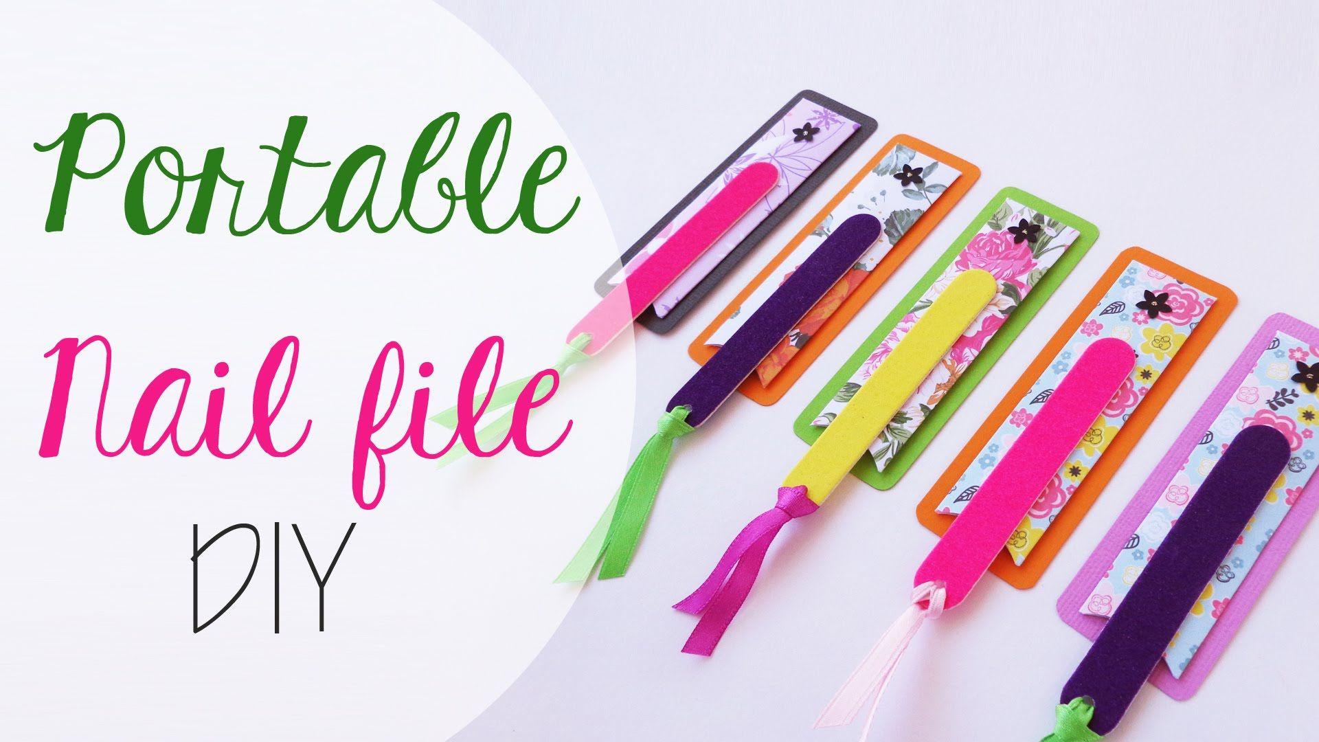 Tuto: Porta limette da borsetta - Portable nail file case | Paper ...