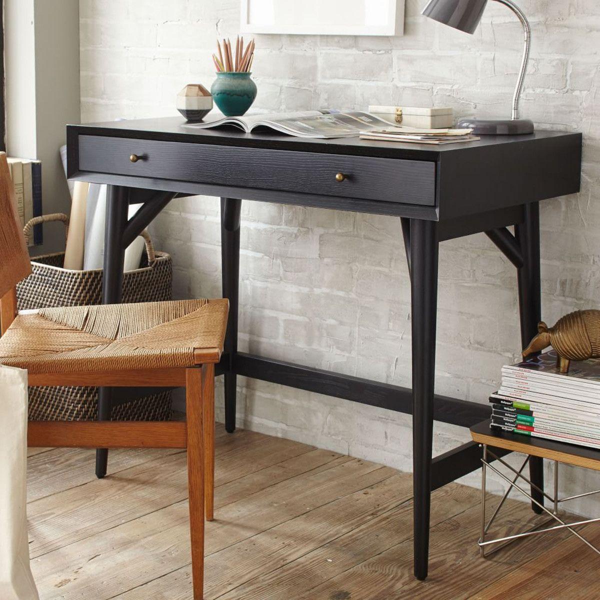 west elm office. Mid-Century Mini Desk - Black | West Elm UK Office