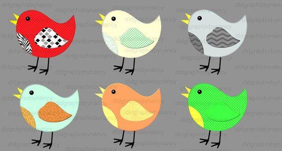 Clip Art, Clipart, Birds, Digital, Spring, Summer, 4 inches, PNG, CU4CU, PU, Scrapbooking, Elements