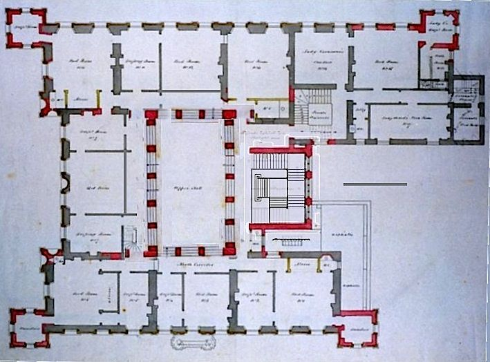 England The Real Highclere Castle Chamber Floor Highclere Castle Floor Plan Highclere Castle House Plans
