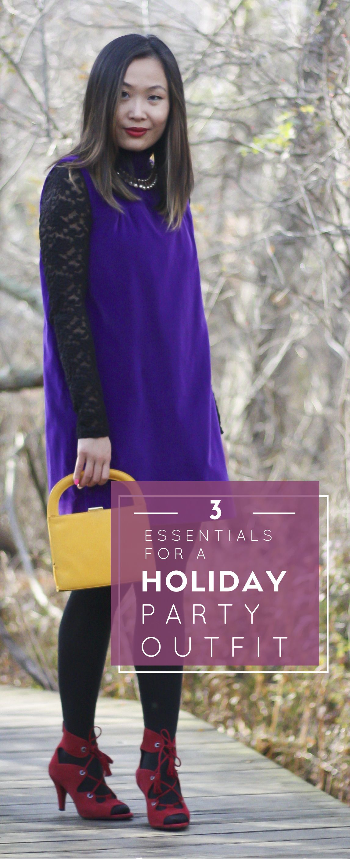 What to Wear to a Holiday Party: Vintage Velvet Dress