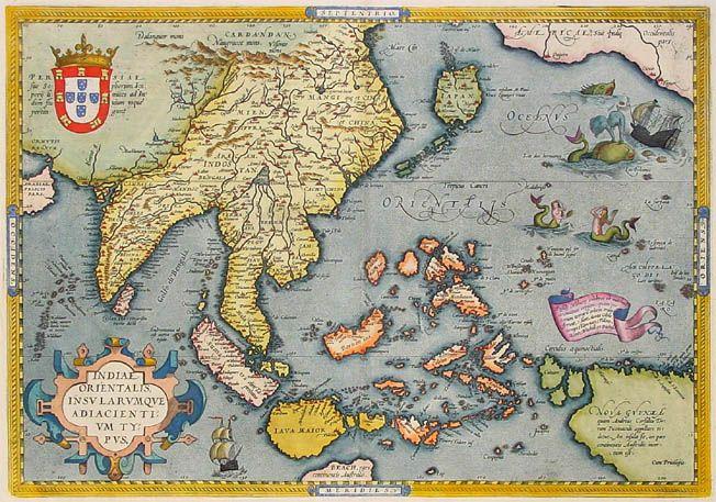 Mapa de la india oriental 1595 mapas antiguos pinterest east mapa de la india oriental 1595 gumiabroncs Images
