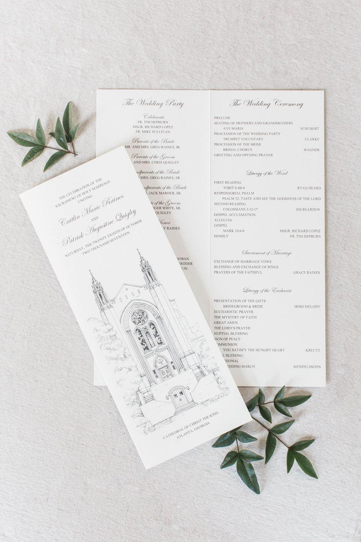 StaceyHolbrook Design Catholic Wedding Ceremony Program