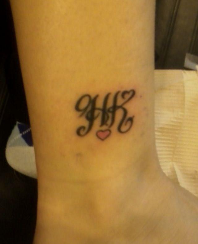 H K Initials Tattoo Awww H Tattoo Initial Tattoo Tattoos