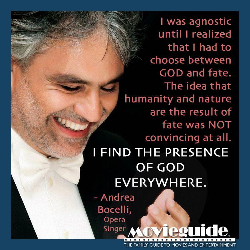 Amen, Andrea Bocelli opera singer! Christians in