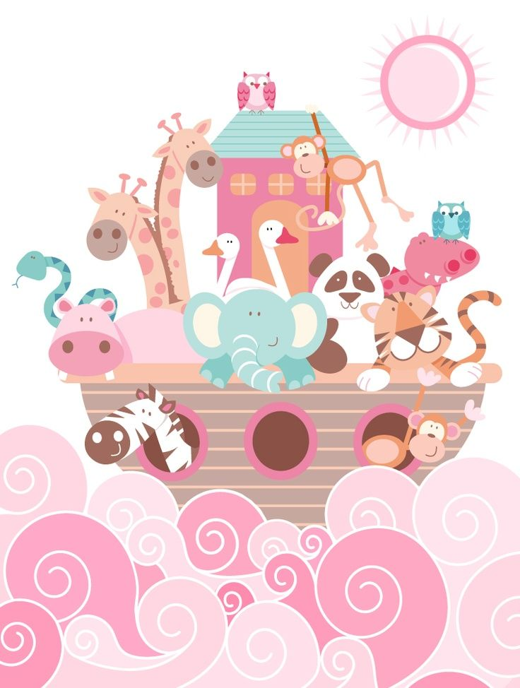 Emily 080413 These Little Guys Are Cute It S Super Pink But We Could Chang Androidwallpaper Androidwallpaperhdblac Baby Art Noahs Ark Cute Illustration