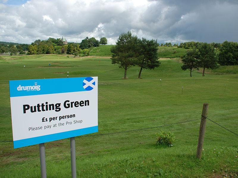 Drumoig Signage Putting Green Signage, Putting greens