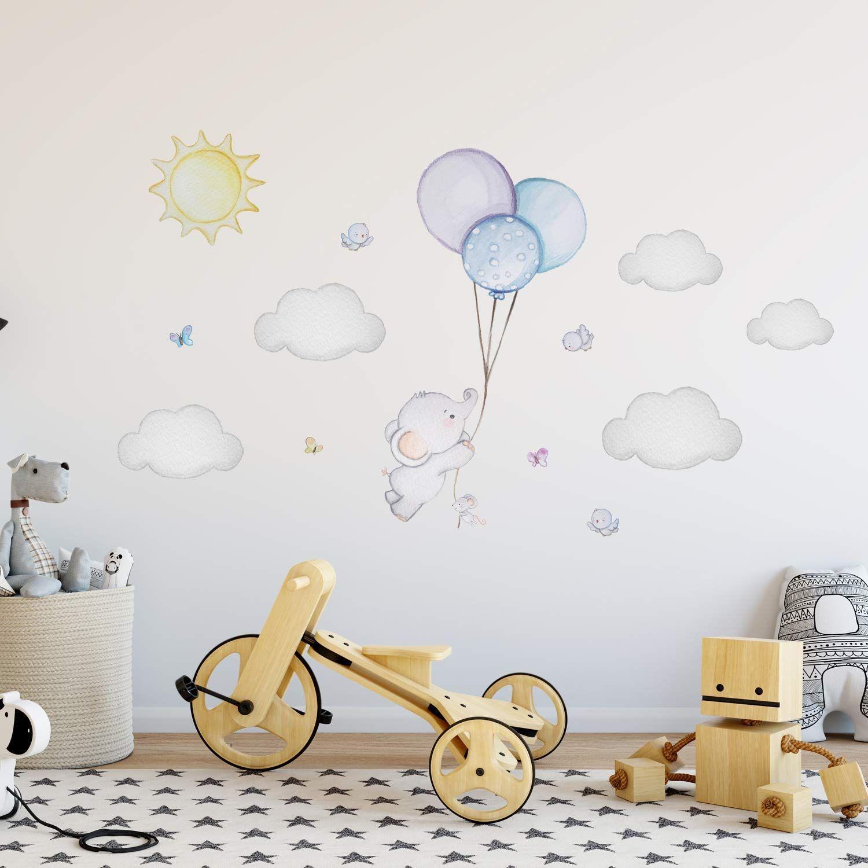 Elefant Wandtattoo Baby Wandtattoo Elefant Sticker Junge Kinderzimmer Deko Junge Ballon Kinder Elef In 2020 Babyzimmer Wandbilder Wandtattoo Babyzimmer Baby Wandtattoo