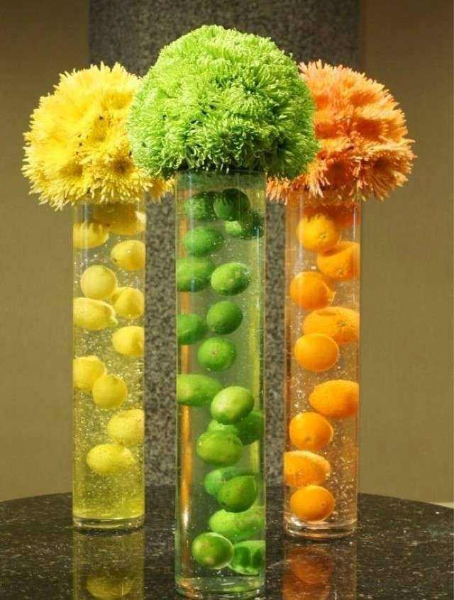 Decorare la tavola con la frutta - Calici di agrumi ...