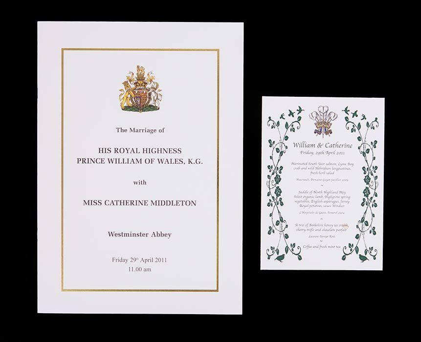 Prince William and Kate Middleton\'s wedding menu and rare royal ...