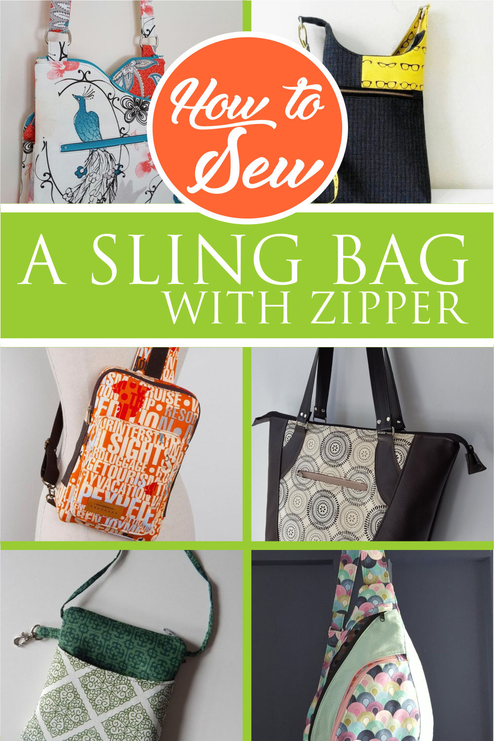 How To Sew A Sling Bag With Zipper Sling Bag Pattern Crossbody