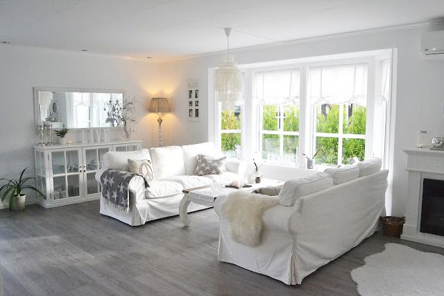 Ikea Rp Sofas In Blekinge White Help To Make This Living Room Clean Calm And