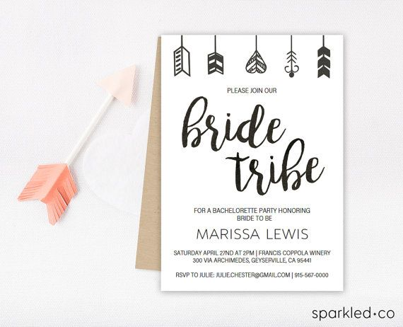 Bride Tribe Bachelorette Invitation, Bachelorette party invitation - bachelorette invitation template