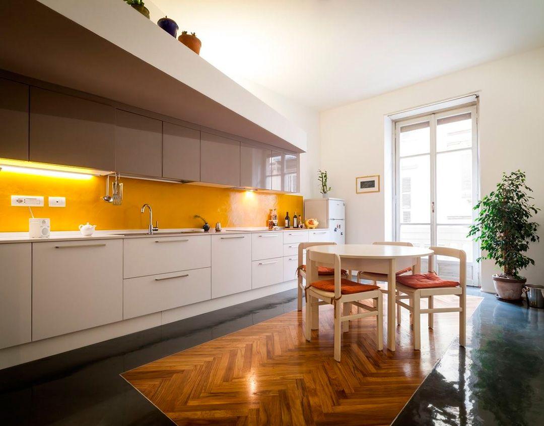 50 idee di colore paraschizzi per una stupenda cucina | Flooring ...